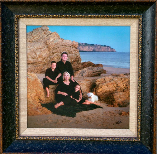 Family Portrait at Crystal Cove